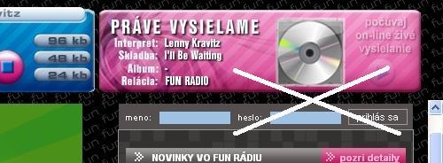 Navbar stránok Fun Rádia zmizol :)