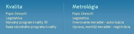 Nekontrastné odkazy v menu hlavnej stránky