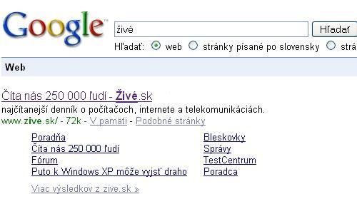 Title hlavnej stránky: Číta nás 250 000 ľudí - Živé.sk